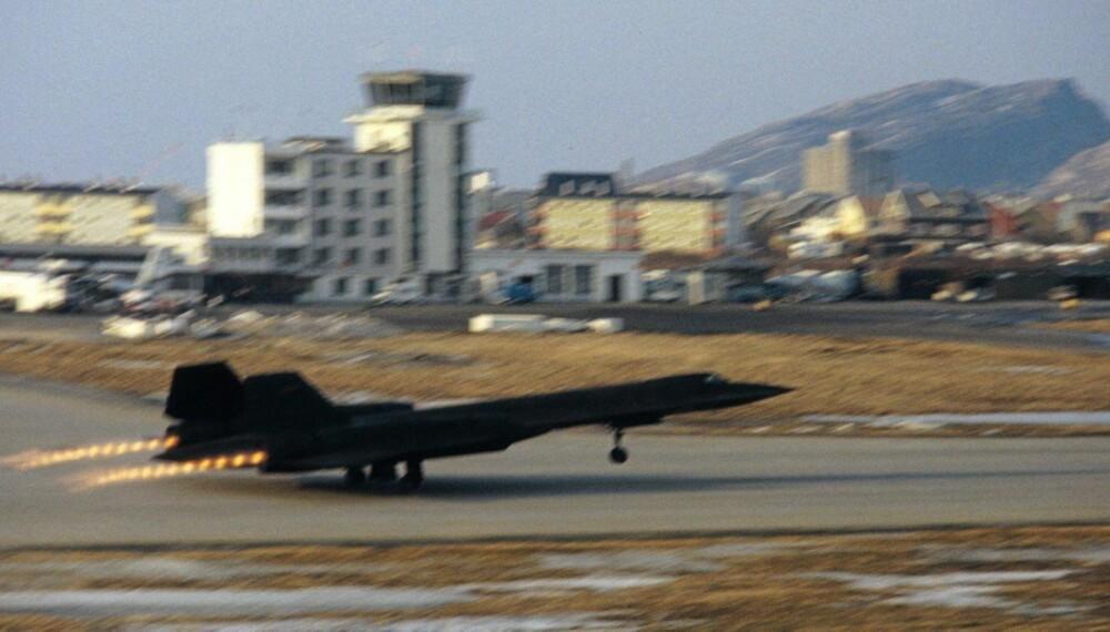 SR-71 er reparert i Bodø og tar av for første gang fra norsk jord i 1981.
