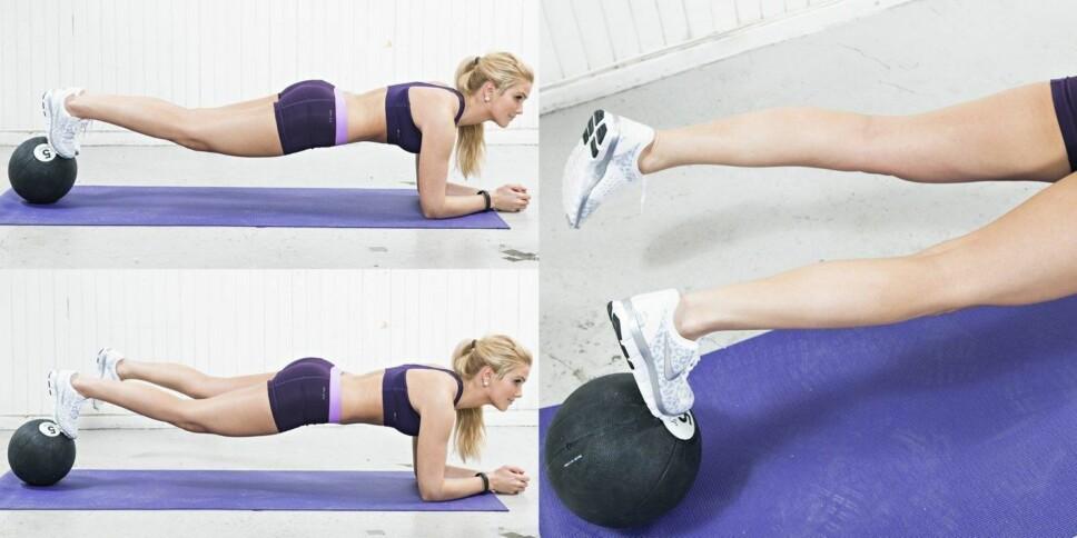 Planke på ball.
