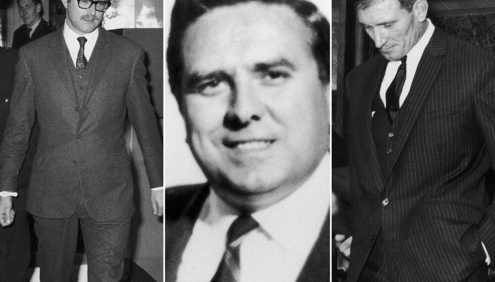 MESTERHJERNER: Bruce Reynolds (t.v.), Buster Edwards og Gordon Goody startet planleggingen av «århundrets forbrytelse».