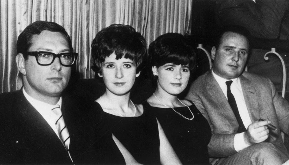 FRIKJENT: John Daly (t.h.) var den eneste raneren som ble frikjent. Her sammen med en av de andre ransmennene, Bruce Reynolds, som var gift med søsteren til Dalys kone.