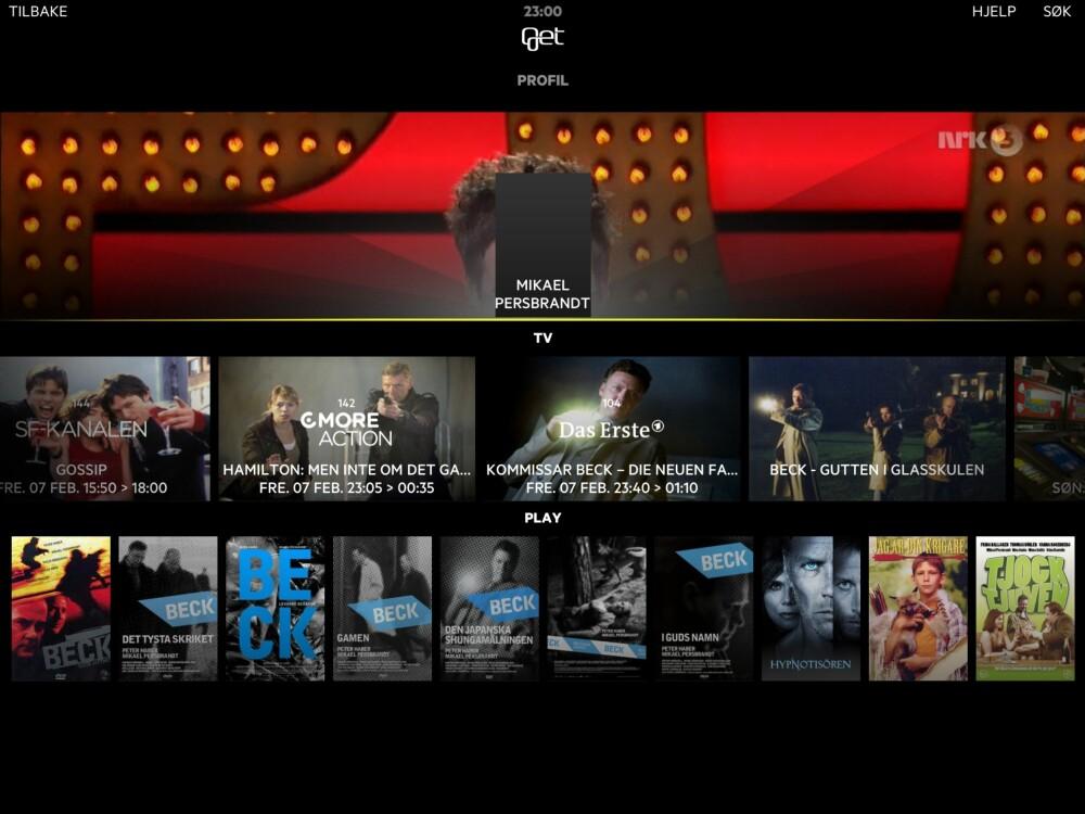NY APP: Med sin nye TV-app forsøker Get å fusjonere alt relevant innhold - enten det er fra direkte TV eller streaming.