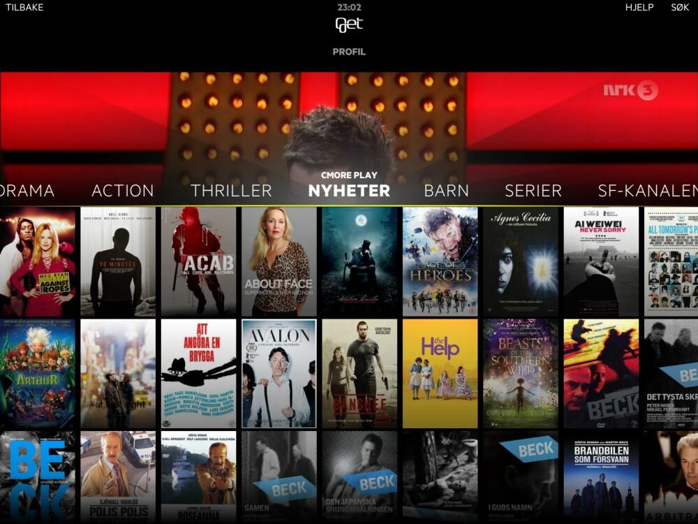 INGEN NETFLIX ELLER HBO: I skrivende stund er det inkludert streaming fra Cmore og TV 2. Netflix, HBO og lignende er dessverre ikke planlagt - men avvises ikke som en fremtidig mulighet.