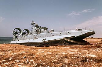 POMORNIK: Det russiske skipet er verdens største luftputefarkost.