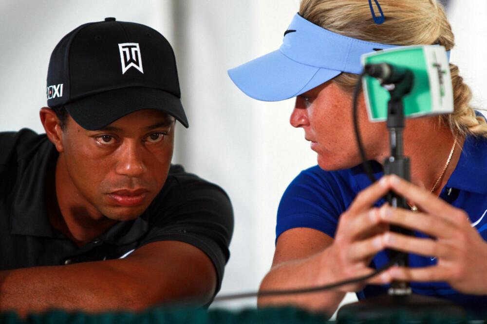 TRENINGSKAMERATER: Tiger Woods skal visstnok ha fortalt Suzann Pettersen at han husket Stein Smith godt.
