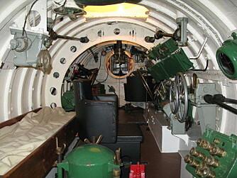 TRANGT:Innsiden av en X-klasse dvergubåt - ingenting for de med klaustrofobi.