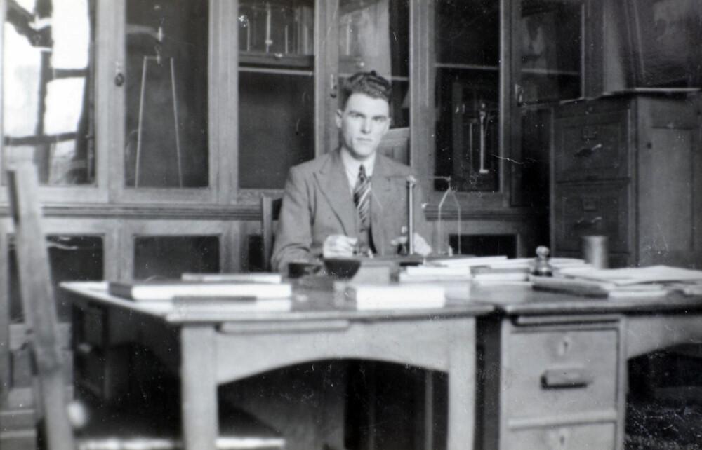 Løytnanten fotografert tidligere på 40-tallet.