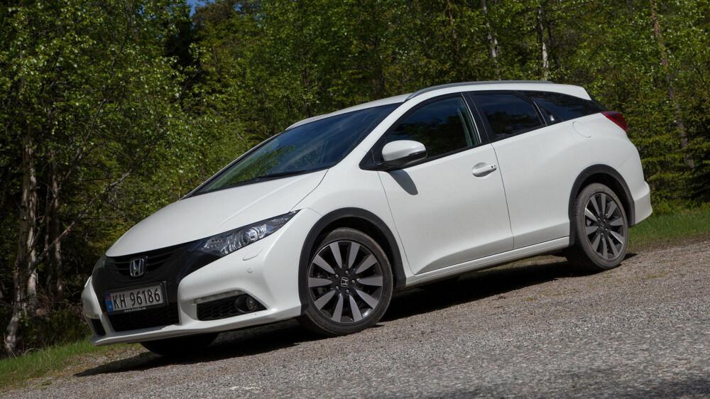 MEGET BRA: Med Civic Tourer viser Honda at de har mer enn ett bein å stå på i det norske markedet.