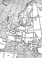 Det europeiske kartet i 1914.