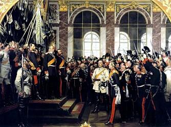 Den 18.januar 1871 ble Vilhelm kronet til keiser av Tyskland i Versailles. Otto von Bismarck er mannen i hvitt, og mannen til høyre for Vilhelm I er kronprins Friedrich, faren til Vilhelm I.