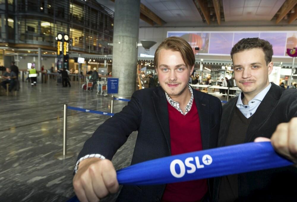 Ønsker pilotprosjekt: Helge William Braathen (t.v.) og Torbjørn Weisæth i Akershus Fpu vil ha prøveprosjekt med kasino innenfor sikkerhetskontrollen på Gardermoen.