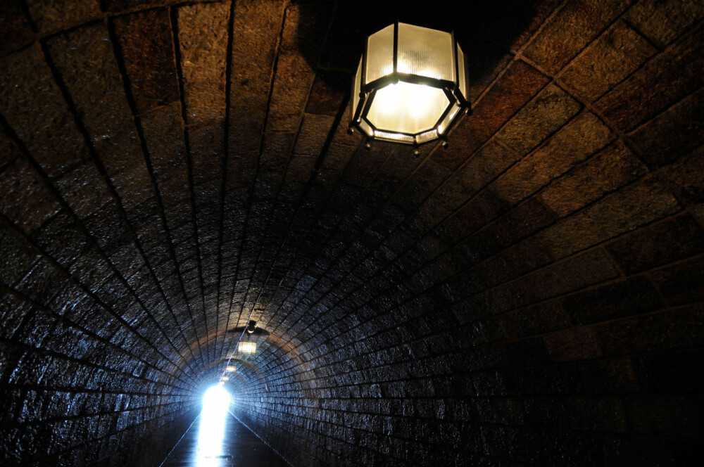 Nazi-tunnelen som leder til Ørneredet.