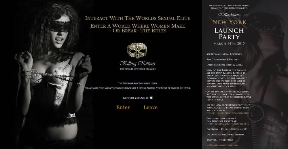 SEXFEST I NEW YORK: Invitasjonen til Killing Kittens første sexfest i New York er publisert på den offisielle hjemmesiden. Sted: Hemmelig.