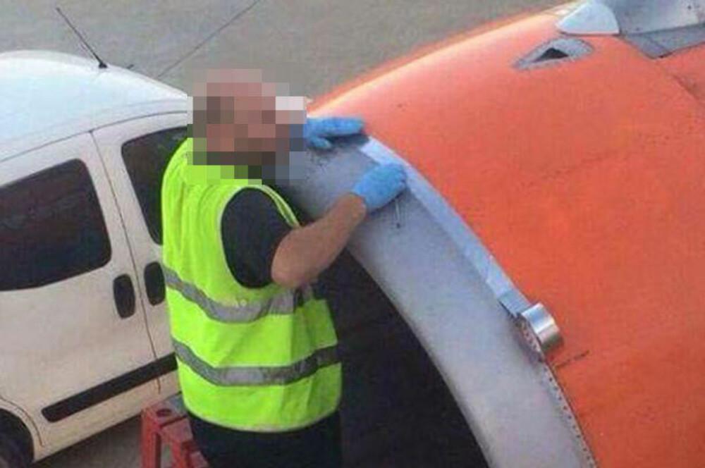 Her taper en flyplassansatt flyet, men flyselskapet avviser at det har noe å si for flysikkerheten.