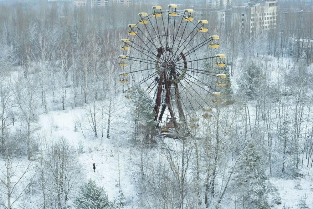 CHILD DREAM: Den siste dagen i Pripyat. De siste tre dagene spurte jeg meg selv hvordan jeg skulle fange det berømte pariserhjulet fra et nytt og originalt perspektiv.