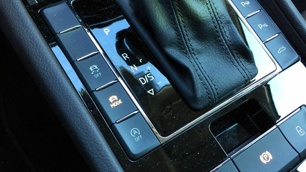 En kjøremodusvelger på en Skoda Superb ville tidligere vært utenkelig.