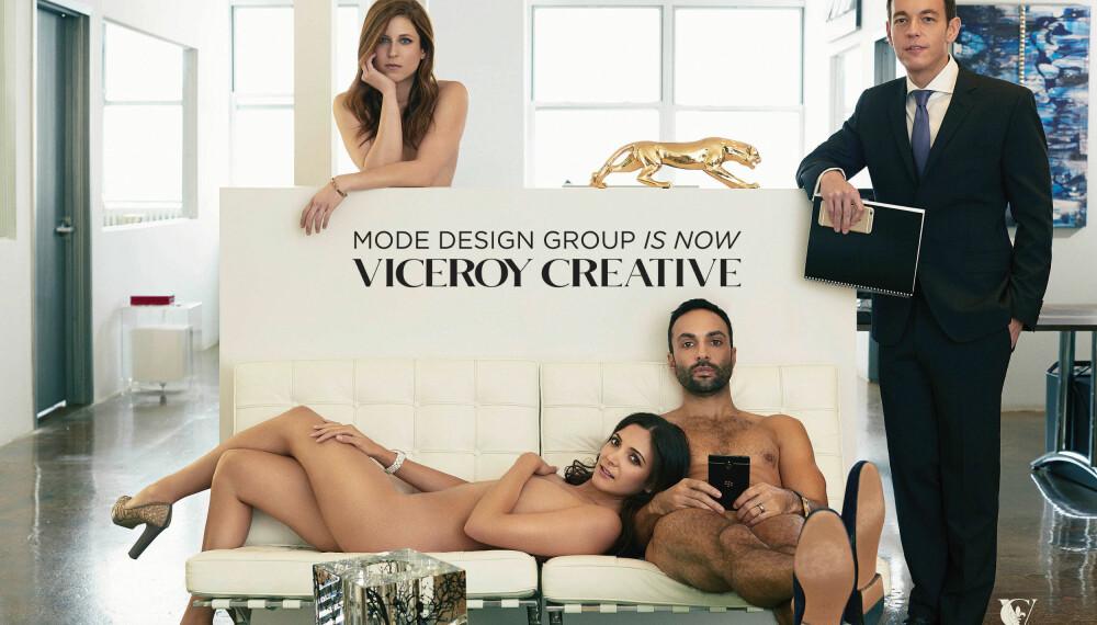 FYSISK OG MENTALT STERKE: Det var i forbindelse med navneskiftet fra Mode Design til Viceroy Creative at toppsjefen kom på å ideen med å vise at byråets ledere var en viljesterk gjeng.