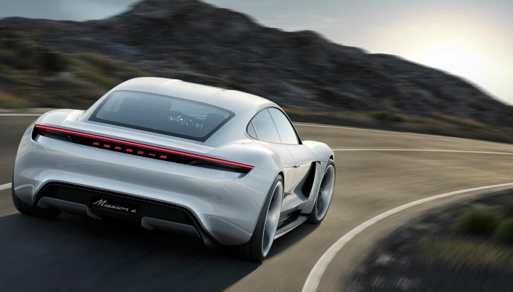 <b>NÆR HJERTET: </b>Porsche Taycan startet livet som Mission E. «Taycan» betyr noe slikt som «livlig unghest» og spiller på Porshes kjerneverdier og logo fra 1952.