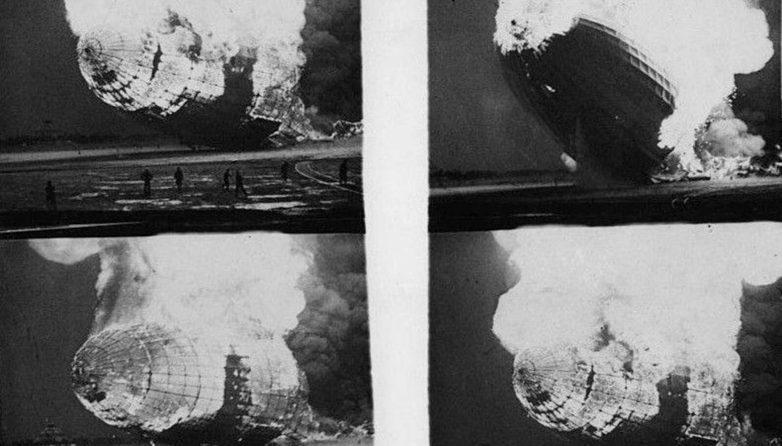 <b>FLAMMEHAV:</b> Ferden til luftskipet Hindenburg endte i et flammehav.