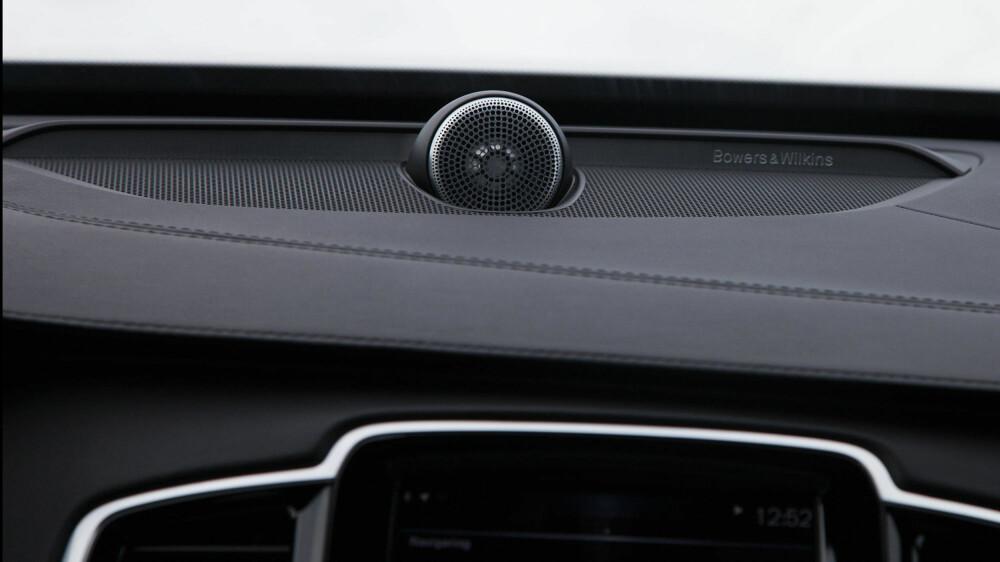 B&W-anlegget i bilen koster alene mer enn det de fleste synes ville vært akseptabelt å bruke på et stueanlegg. Men lyden er da også god.