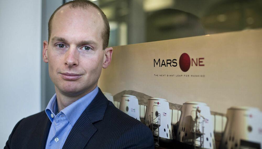 MARS-GRÜNDER: Bas Lansdorp er mannen bak Mars One, selskapet som vil sende mennesker for å leve - og dø - på Mars.