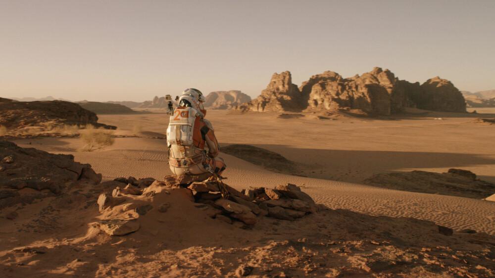ALENE: Det bli en ensom tilværelse på Mars. Bildet er fra filmen The Martian.