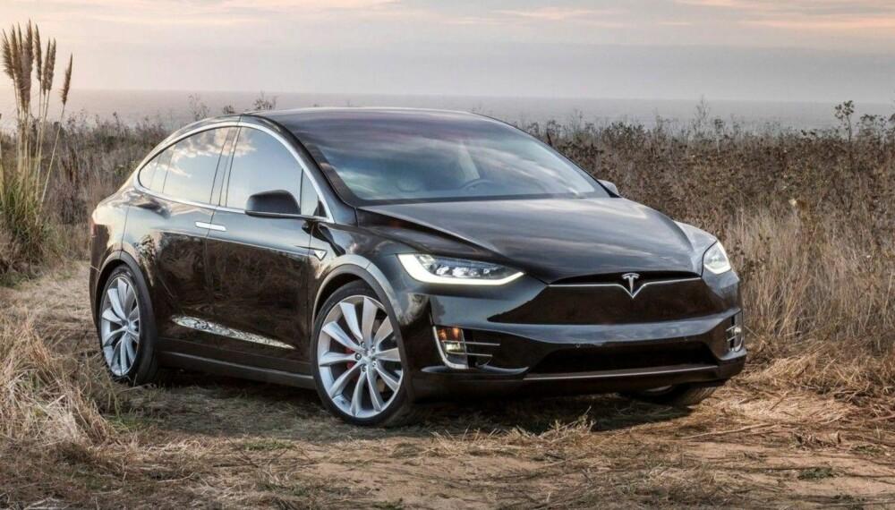 <b>BESTSELGER: </b>Model X er bestselgeren til Tesla i Norge. Selv om prisen fort nærmer seg en million kroner, er dette Norges syvende mest solgte bilmodell så langt i år.
