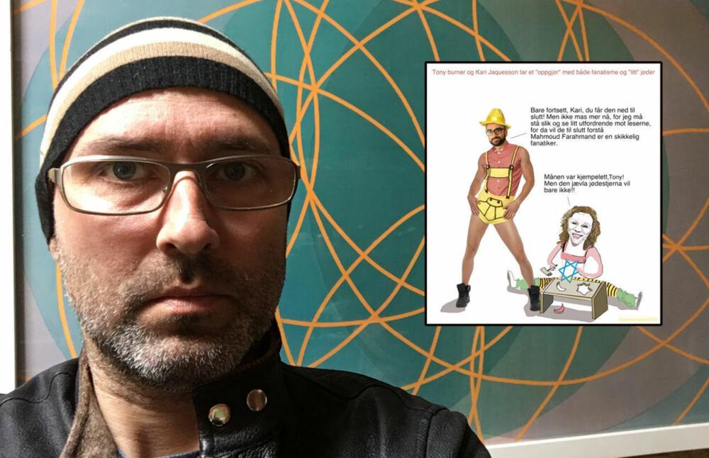 KASTET UT: Billedkunstner Thomas Knarvik ble tidligere denne uken kastet ut fra Facebook for tredje gang.