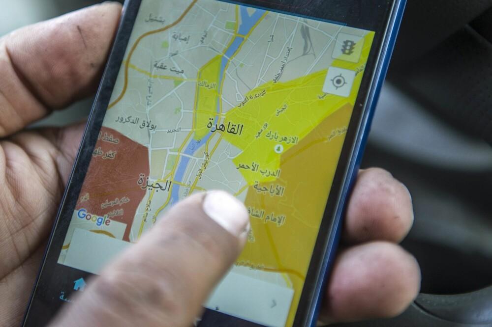 Uber-appen viser hvor det er mest attraktivt å plukke opp passasjerer.