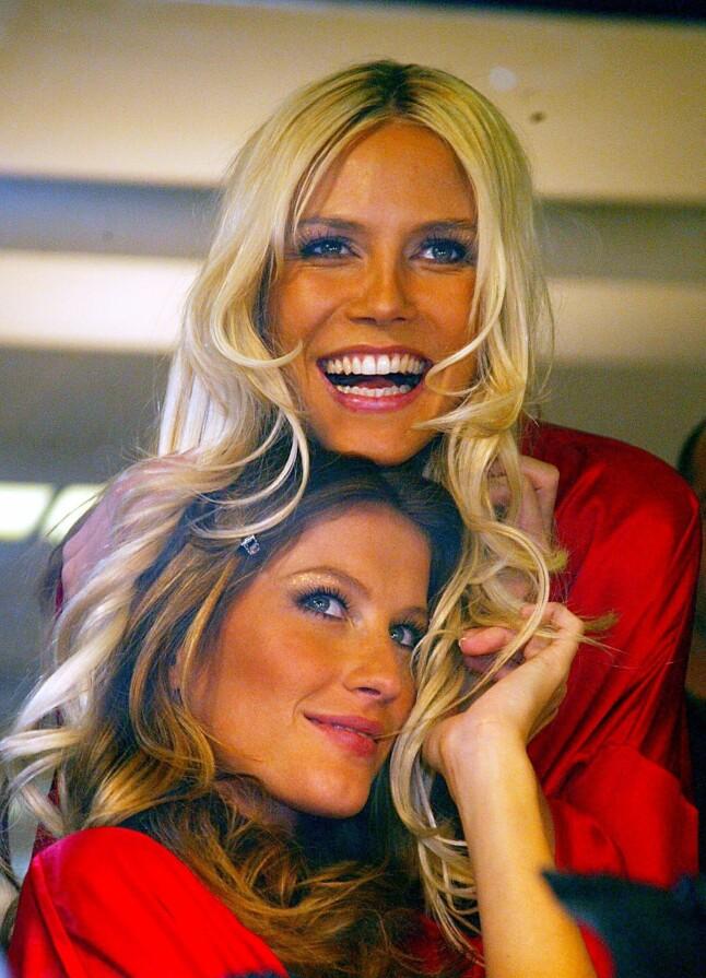 MODELLIV: Heidi Klum sammen med Victoria's Secret-modellmakker Gisele Bundchen i 2003.