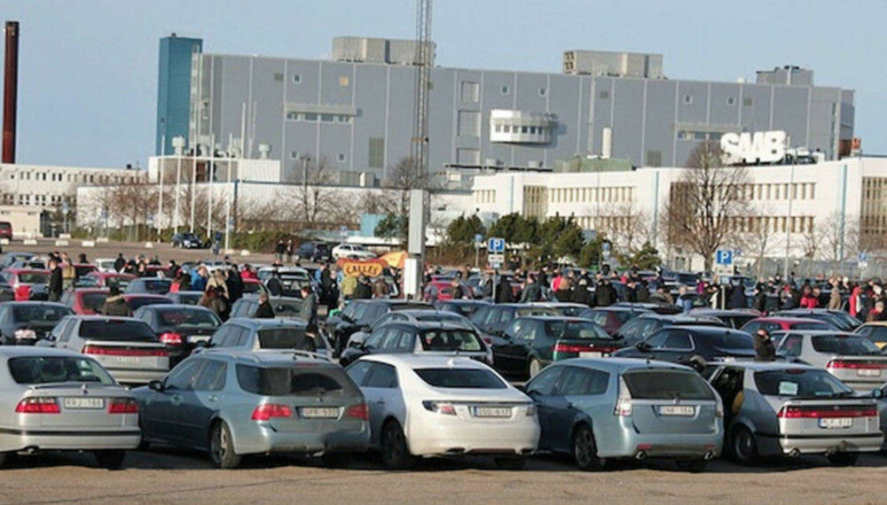 Saab-fabrikken har vært en viktig del av Trollhättan-samfunnet med mange arbeidsplasser.