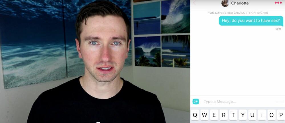 TINDERMATCH: Youtube-kanalen Whatever bestemte seg for å sjekke jenter respons på spørsmålet om de kunne tenke seg å ha sex.