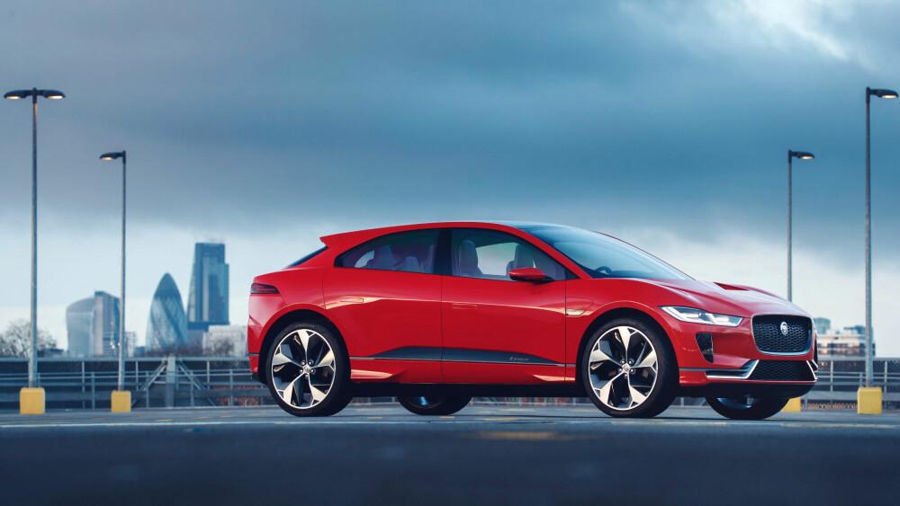 I-Pace er første elektriske bil ut fra Jaguar Land Rover, den kommer til neste år.