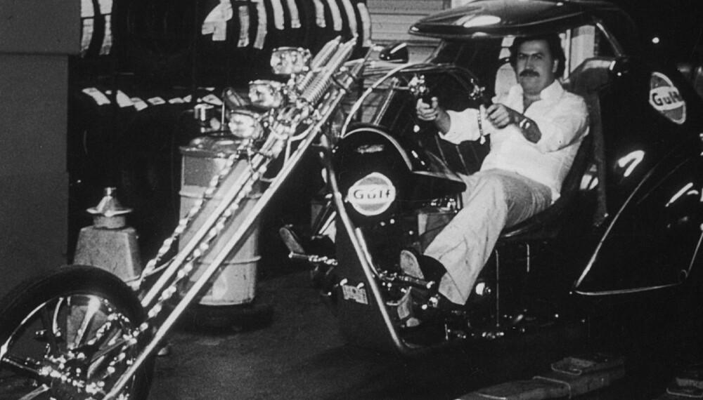ELSKET MOTORSYKLER: Pablo Escobar visste å bruke pengene sine på ekstravagante kjøretøy. Han var spesielt glad i motorsykler.