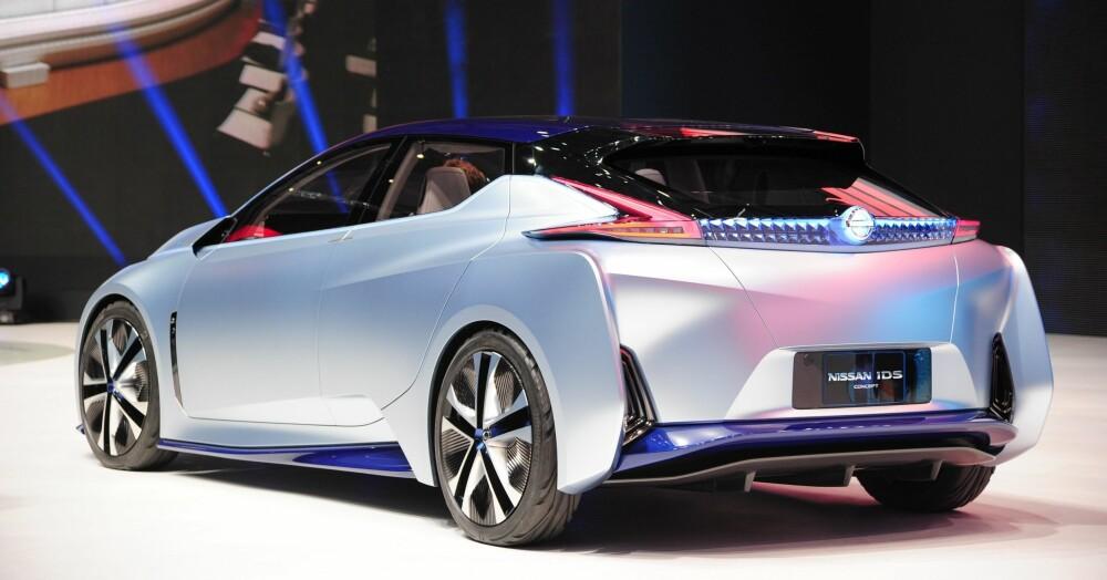 NISSAN IDS: Nissan viste fram konseptet IDS på motormessen i Geneve i 2016. Konseptet representerer Nissans visjon for sine framtidige elektriske og selvkjørende biler. Det kan ganske riktig se ut til at nye Nissan Leaf henter opp designelementer fra IDS-konseptet.