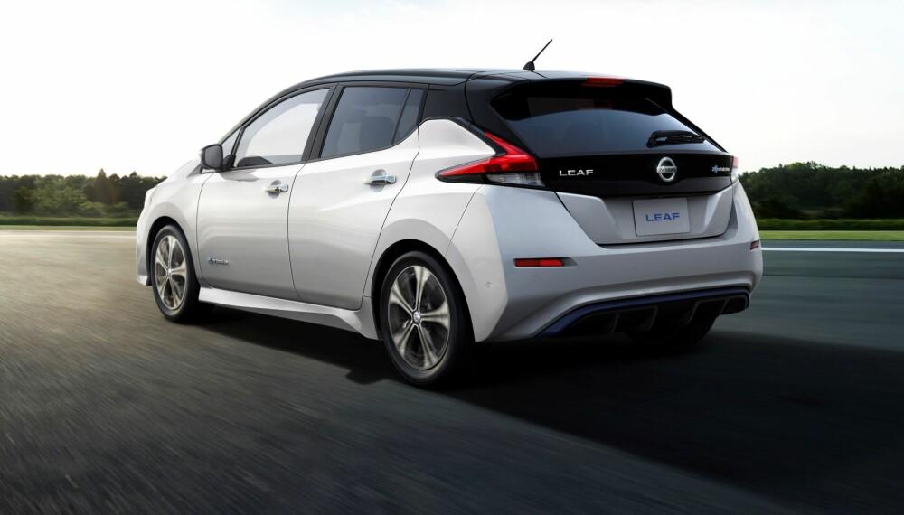 Slik ser nye Nissan Leaf ut bakfra.