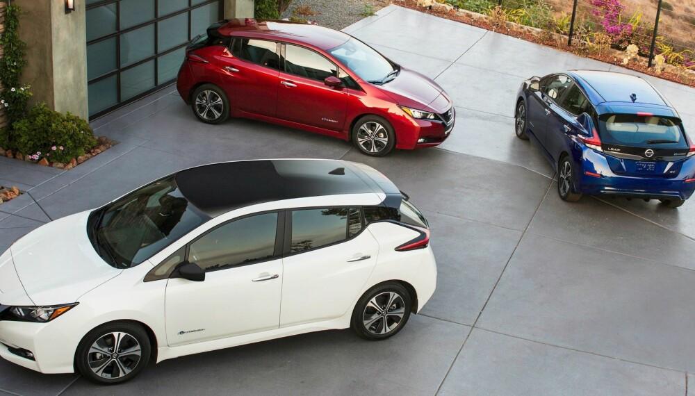 Her er nye Nissan Leaf, fotografert fra flere ulike vinkler.