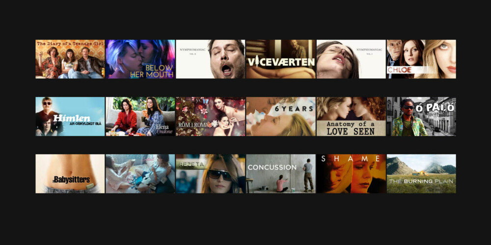 I kategorien «Hete uavhengige filmer» på Netflix er det i skrivende stund 18 filmer. Se trailerne nedenfor.