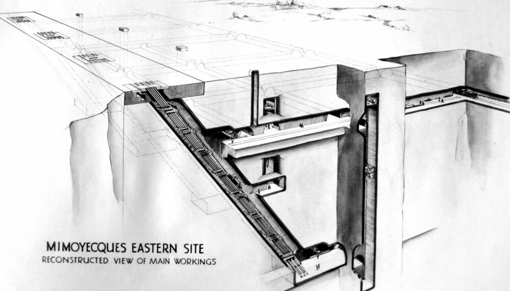 Slik var planen for bunkerne som skulle inneholde fem utskytningsbatterier med fem løp hver.