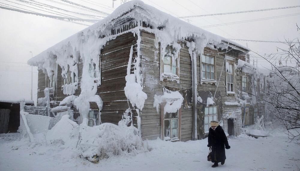 JAKUTSK: Hovedstaden i regionen er også et ganske kjølig sted, men kan likevel ikke måle seg med Ojmjakon.