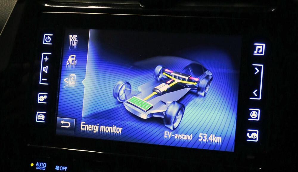 <b>STØRRE: </b>Oppgitt rekkevidde også for ladbare hybrider vil gå ned med WLTP. En mulig følge er at ladehybrider i fremtida vil få større batteri. Bildet er fra den ladbare utgaven av Toyota Prius, en ladehybrid med god reell rekkevidde.