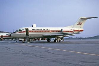 ULYKKESFLYET: Fokker Fellowship-flyet var bare tre år gammelt da det styrtet. I tillegg var det godt utrustet for instrumentflyging. Det var et tilsvarende fly som dette, en Fokker F-28 som styrtet med 65 mennesker ombord.