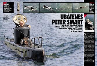TI ÅR SIDEN: Reporter Håkon Bonafede har selv vært på tur med Peter Madsen i 2008, da de to dykket med tomannsubåten «Kraka». Hele reportasjen kan leses på vimennpluss.no.