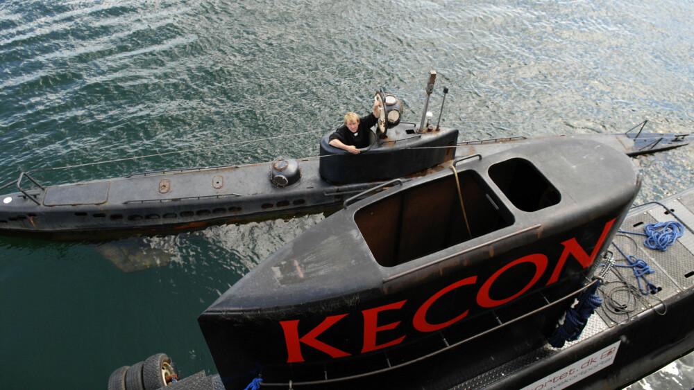 «KRAKA» OG «NAUTILUS»: Den hjemmelagde ubåten «Nautilus» var vesentlig større en Peter Madsens andre ubåt «Kraka». Her ligger de to ved siden av hverandre i en havn ved København i 2008.