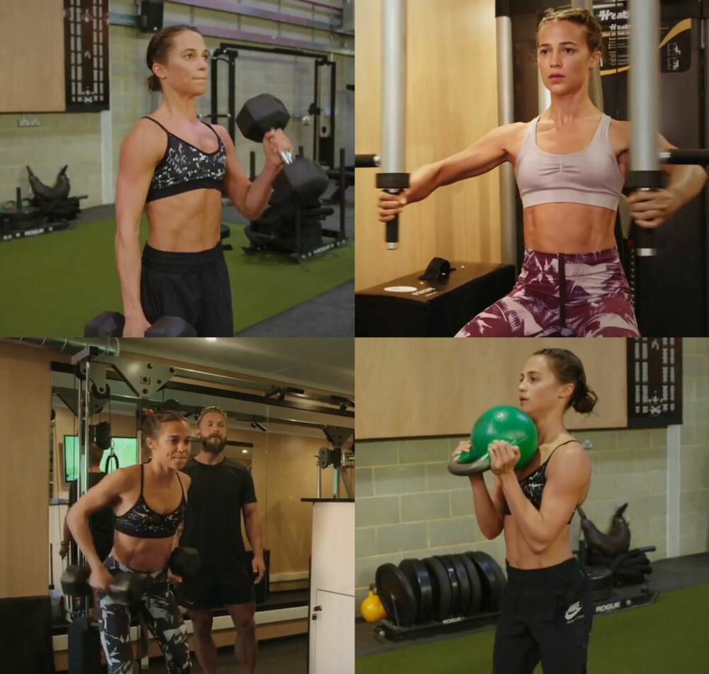 STYRKETRENING: Personlig trener og ernæringsekspert Magnus Lygdback trente skuespiller Alicia Vikander foran innspillingen av actionfilmen «Tomb Raider». Her er øvelsene for rygg, bein, mage, armer og bryst som hjalp Alicia Vikander til å bli Lara Croft.