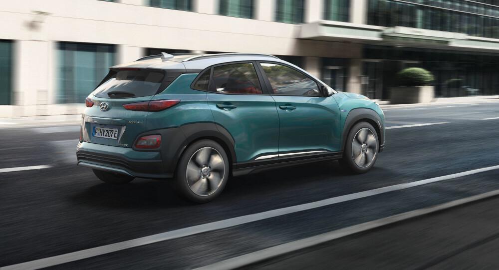 IKKE HENGERFESTE: Hyundai Kona som elbil blir i første omgang ikke utstyrt med hengerfeste.