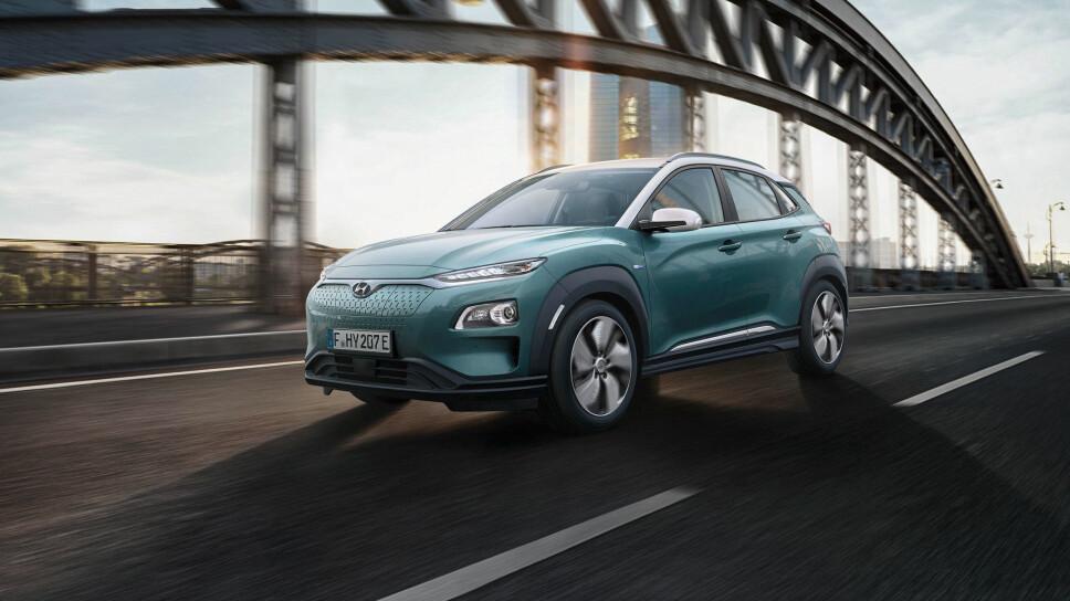 IKKE 4WD: Hyundai Kona kommer ikke med 4x4, kun forhjulstrekk.