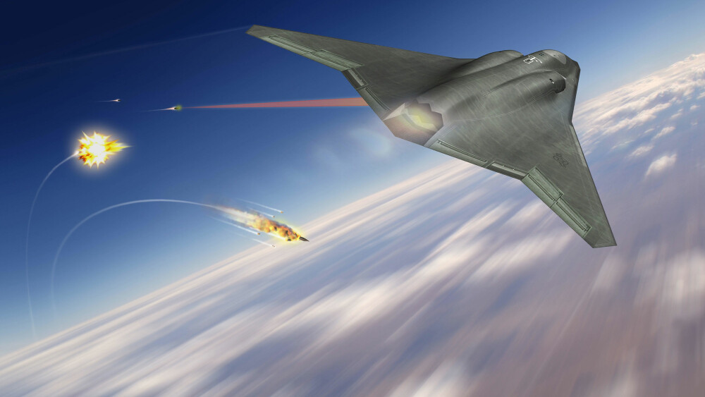 6. GENERASJONS KAMPFLY: Her ser vi designretningen for Northrop Grummans sjettegenerasjons kampfly. Laservåpen og mulig supercruisehastigheter er to av egenskapene som kan finne veien inn i flyet når det står ferdig - etter planen i 2030.