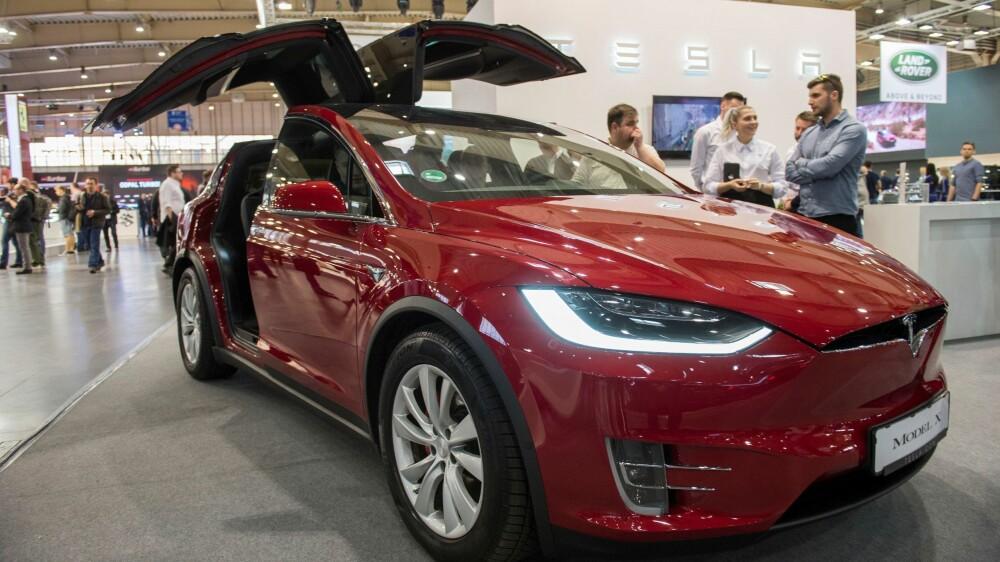 EL-SUV: Den elektriske SUV-en, Tesla Model X, var Norges nest mest registrerte bil i mars 2018.