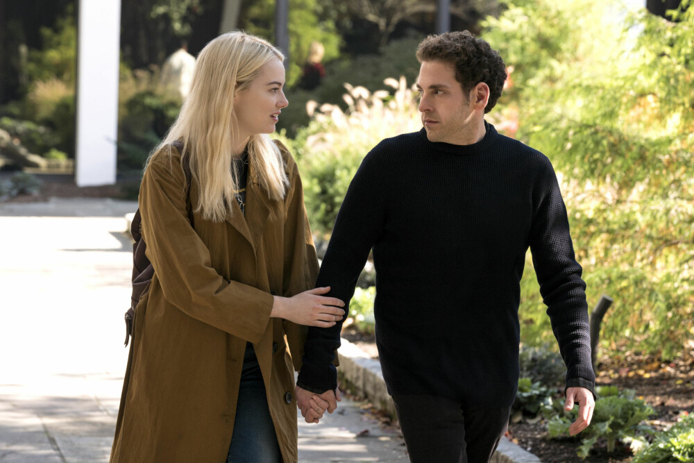 GODE VENNER: Emma Stone og Jonah Hill er gode venner både foran og bak kamera. De slo begge igjennom med ungdomskomedien «Superbad» i 2007.