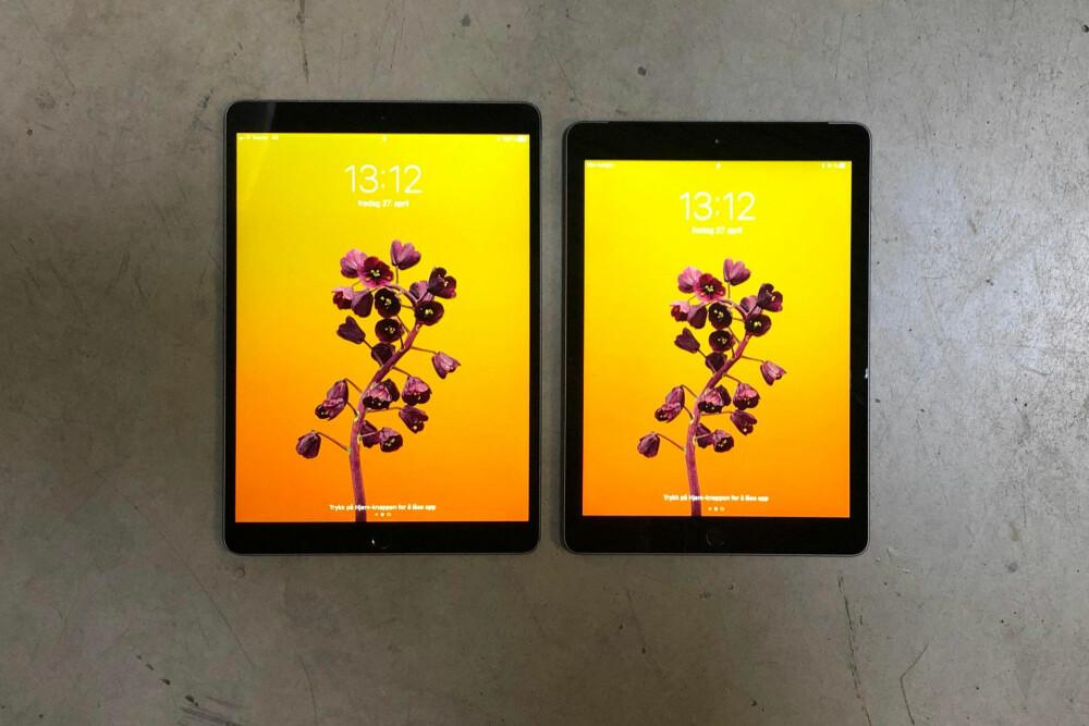 IPAD PRO VS. IPAD: Her ser du forskjellen på iPad Pro med 10,5 tommer skjerm mot iPad med 9,7 tommer skjerm.